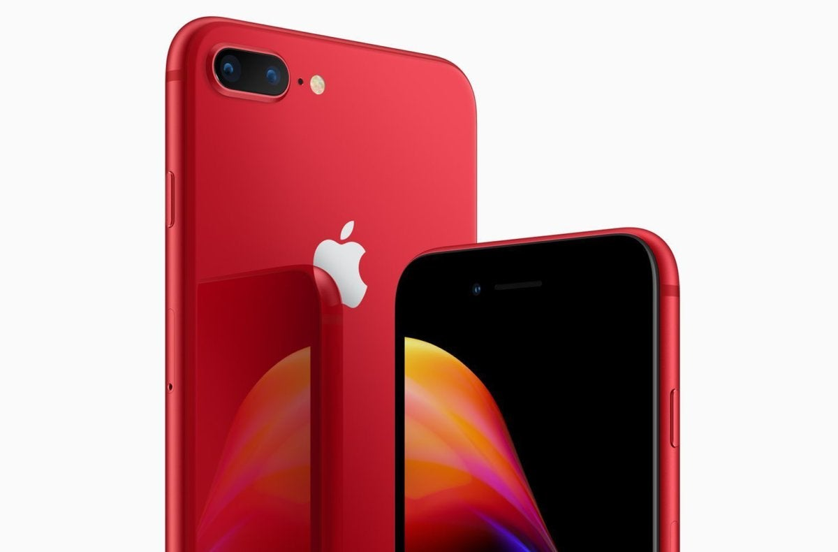 timeless design db0b2 a237d Apple clads the iPhone 8 and iPhone X in (Product)Red to help fight ...