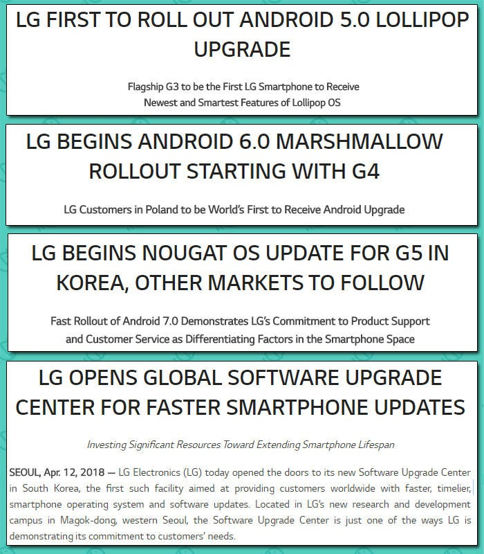 LG's 'Software Upgrade Center' feels slightly too familiar