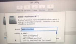 mac911 apfs disk utility from reader