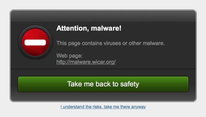 macav bitdefender malicious page warning