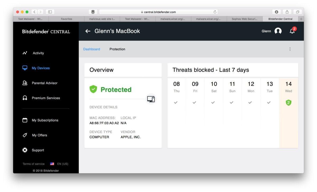 macav bitdefender threat overview