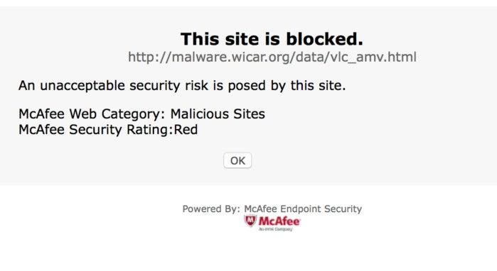 macav mcafee web site blocking