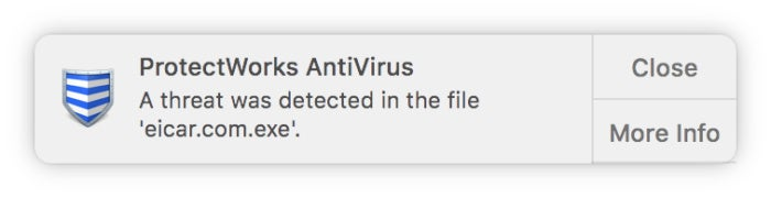 macav protectworks malware detected
