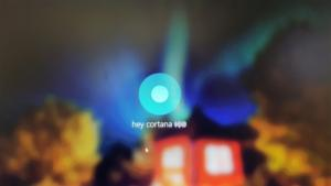 microsoft cortana on the lock screen