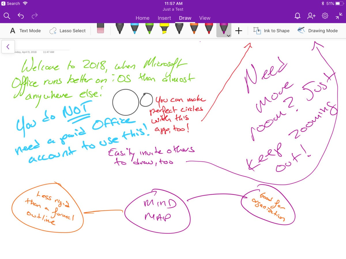 OneNote on iOS