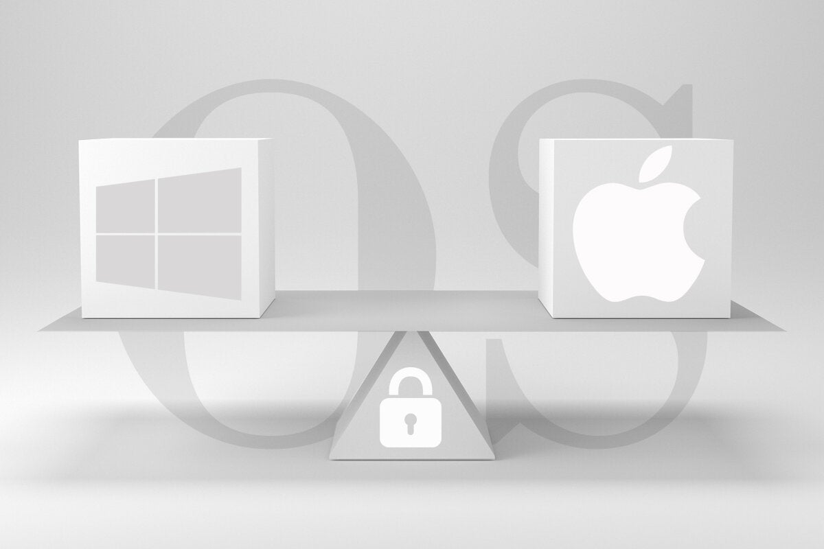 microsoft windows 10 vs  apple macos  18 security features