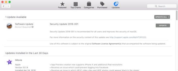 security update 2018 001 macos