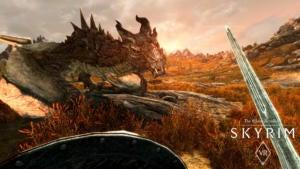 skyrim vr dragon