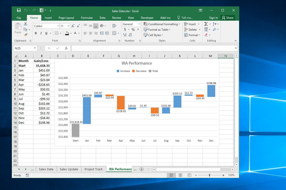 How To Create A Winloss Chart In Excel Tutorial Template
