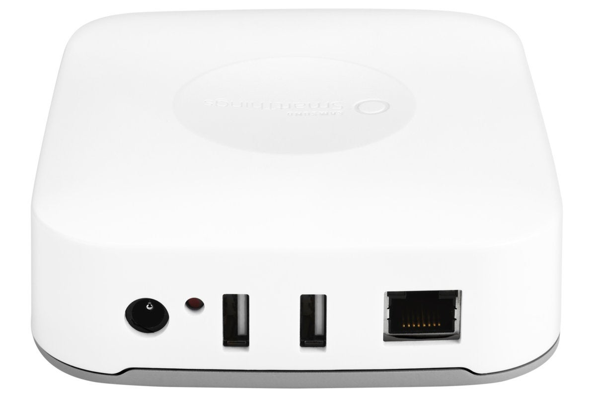 SmartThings hub back top