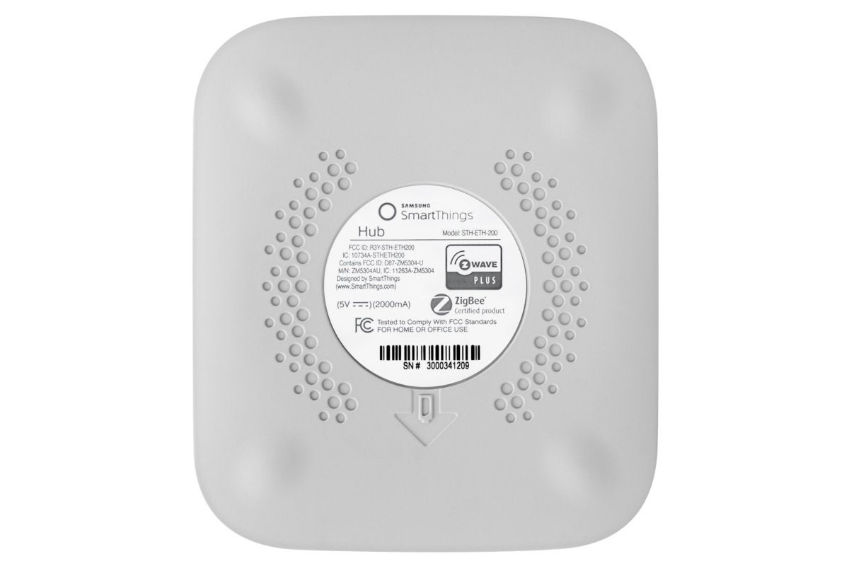 SmarTthings hub bottom