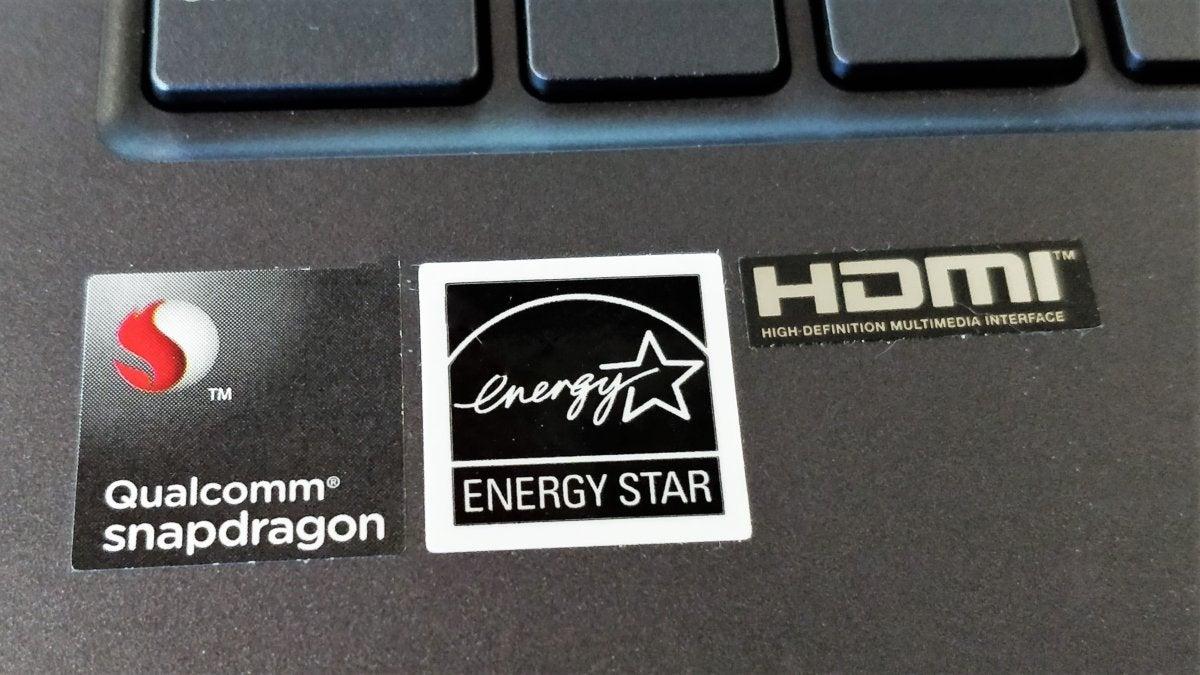 Asus NovaGo snapdragon sticker