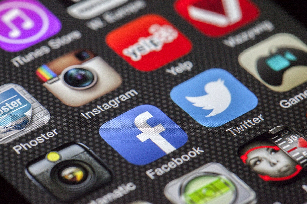 Social media apps—among them, Facebook, Twitter and Instagram