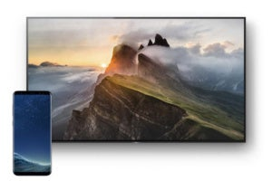 sony bravia a1e with samsung galaxy s9