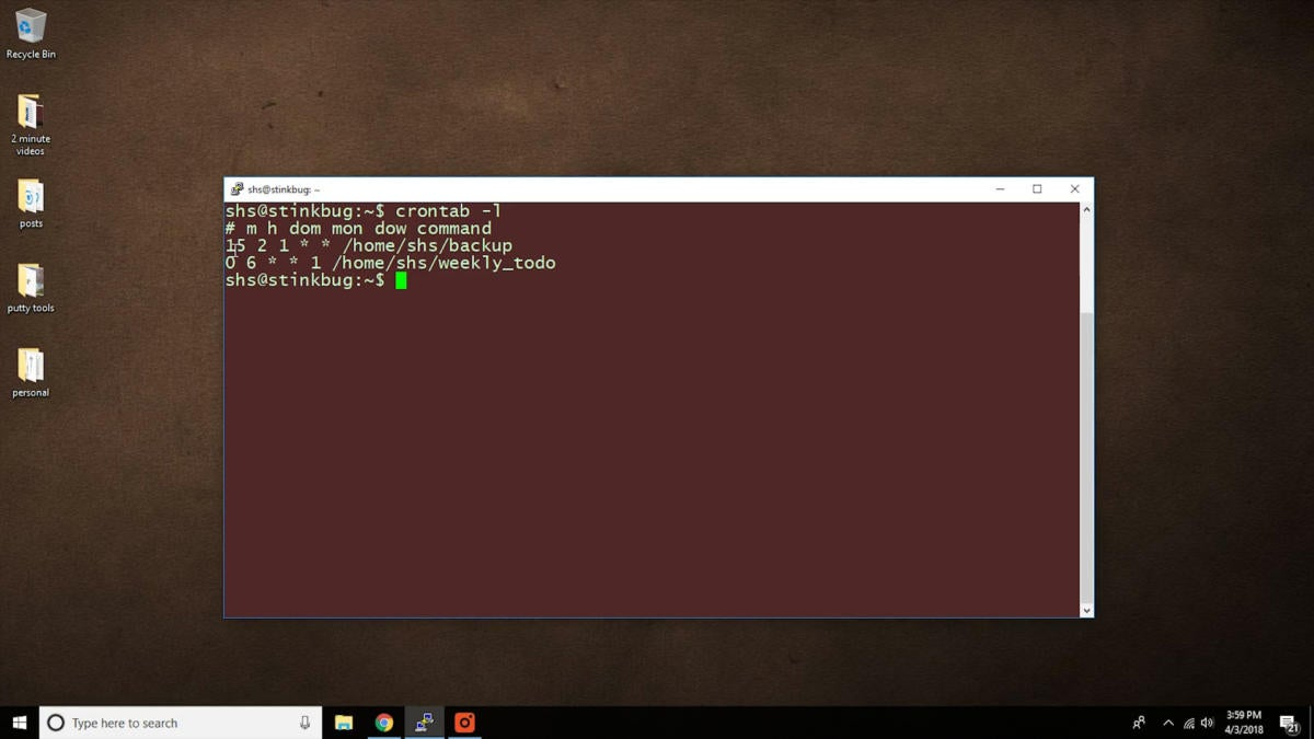 Linux tips contrab
