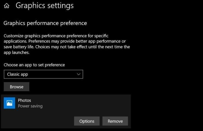 windows 10 per app gpu settings