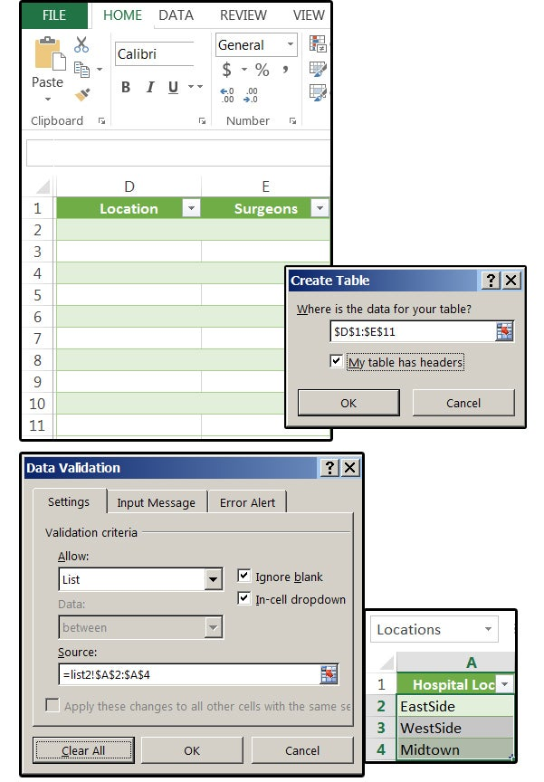Excel: How to create simple and dependent drop-down lists ...