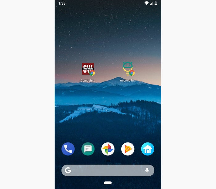 Chrome Android tips add to home