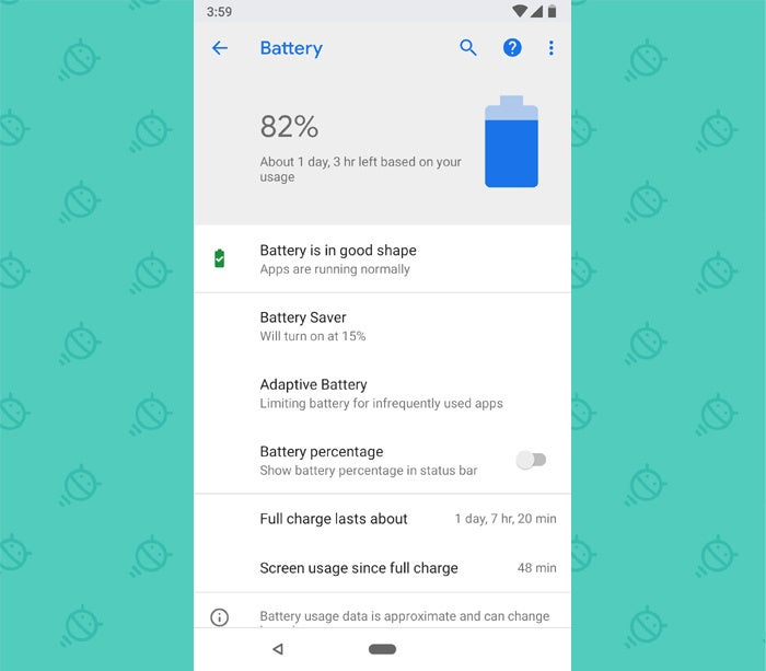 Android P Features: Battery Estimates