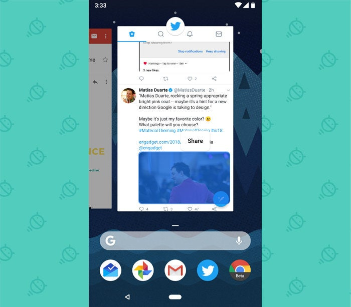 Android P Features: Overview Image Select