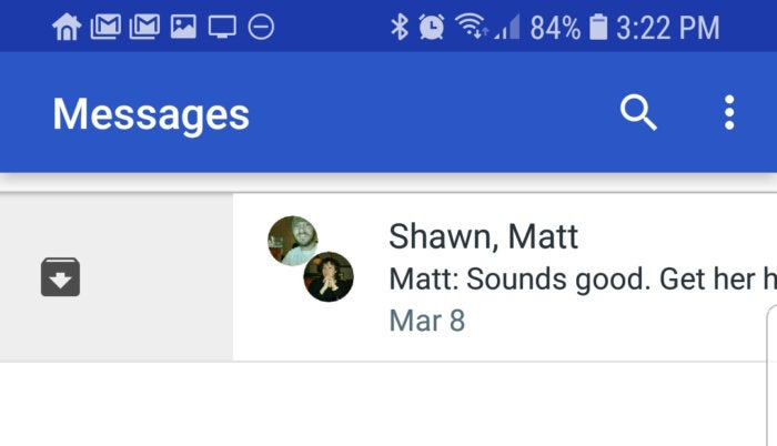 android messages archive