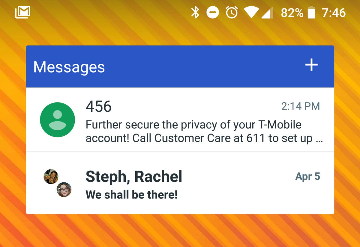 android messages widget