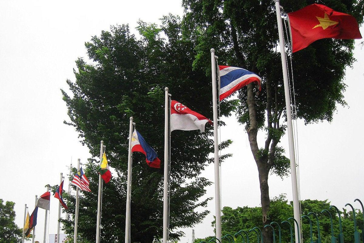 asean member flags (asia)