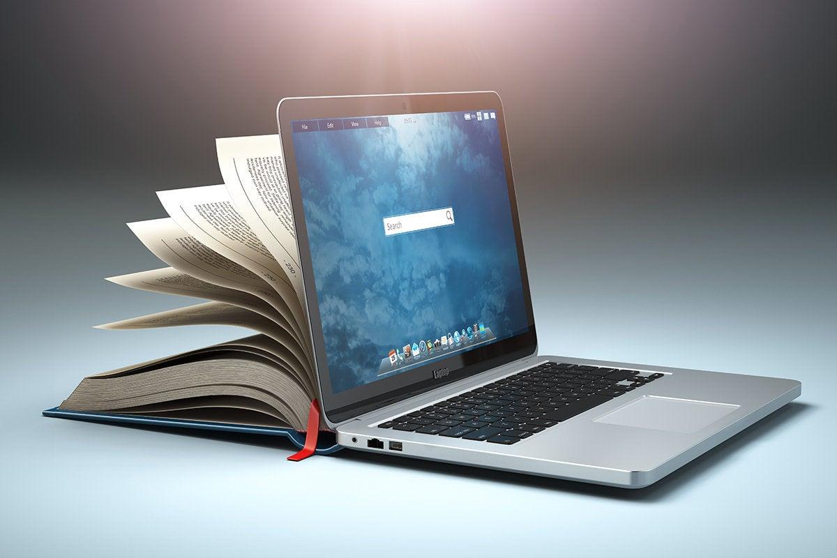 book-laptop combination