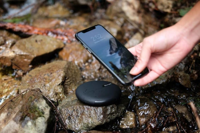 CheeNYC ONYXX water and dust resistant wireless charger and power bank