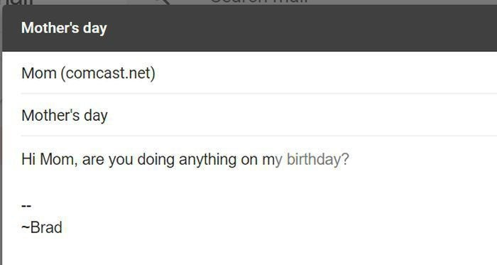 gmail mothers day