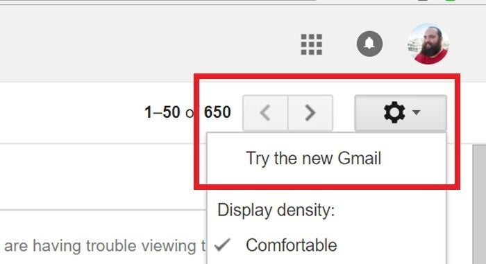 gmail try new