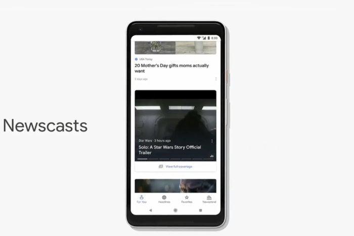 google news newscasts