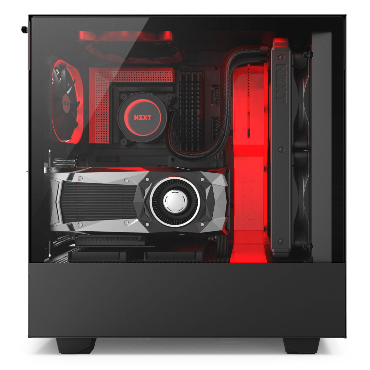 h500i black red with system side