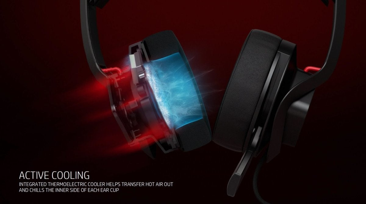 hp mindframe headset has active cooling