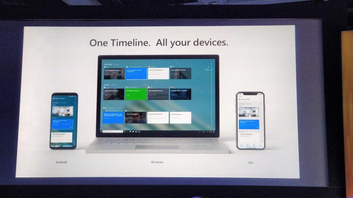 Windows 10 Redstone 5 Timeline across devices