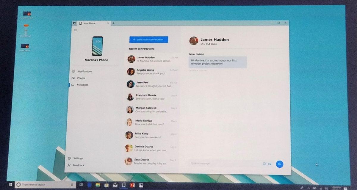 Windows 10 Redstone 5 Your Phone