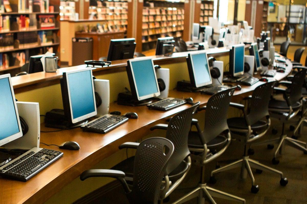 media lab classroom library
