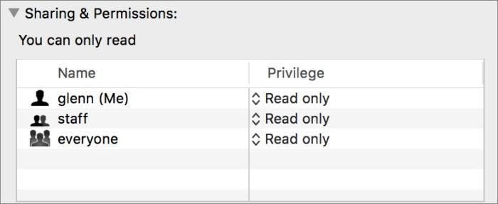 mac911 get info permissions