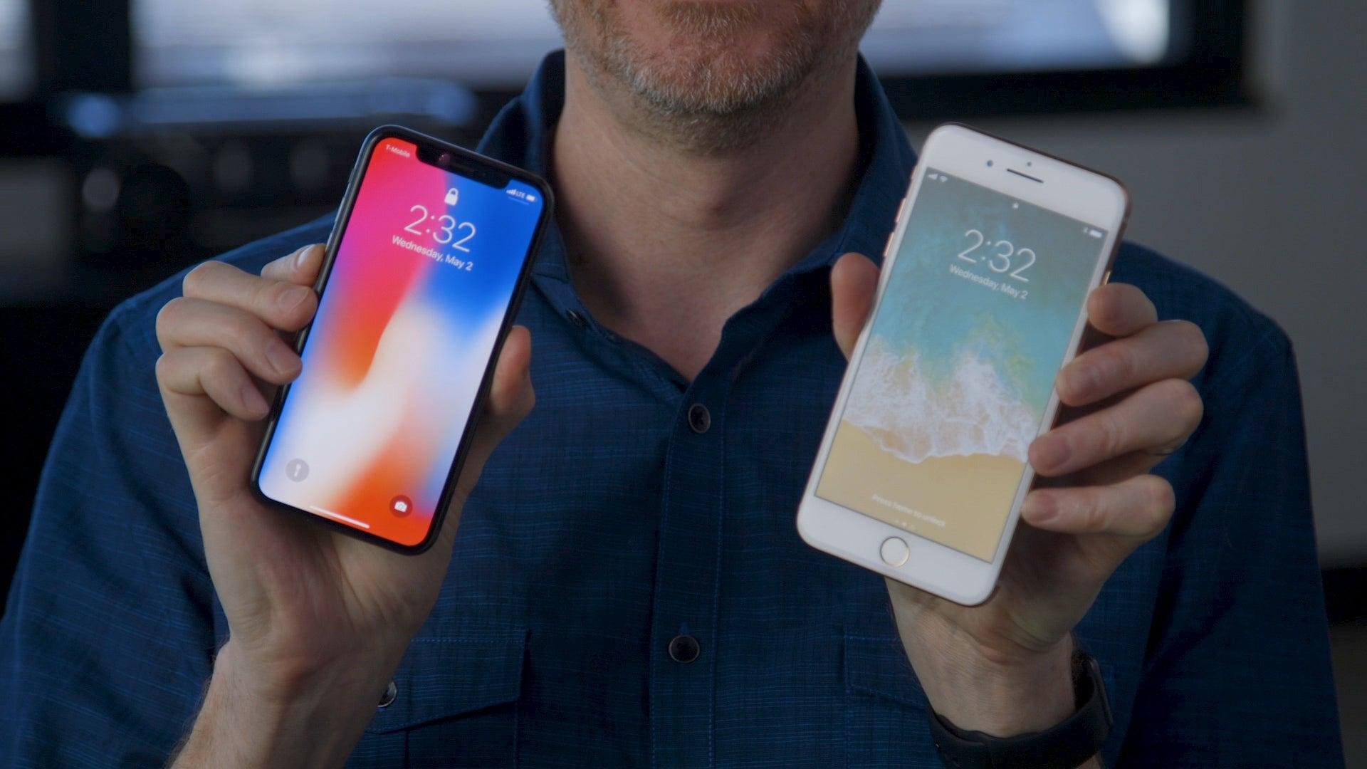 iPhone X or iPhone 8 Plus