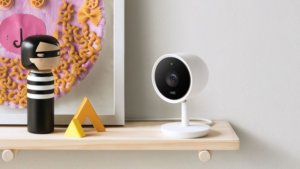 nest cam iq review on shelf