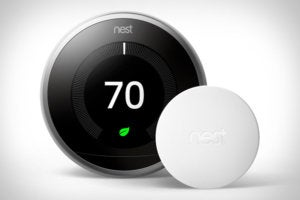 nest learning thermostat and sensor