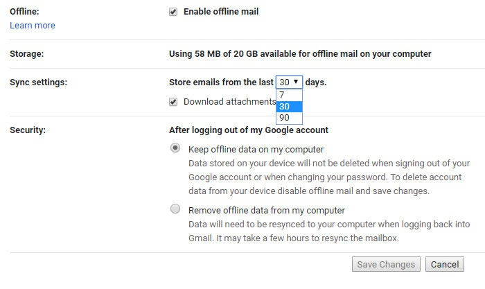 Quick tip: Gmail's new native offline mode is now available