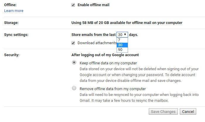 New Gmail Offline