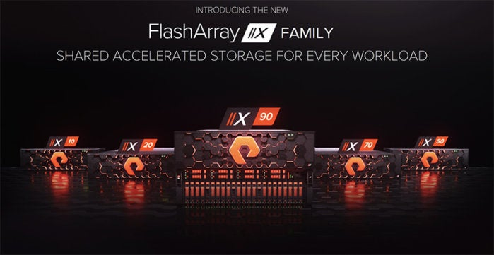pure storage x series