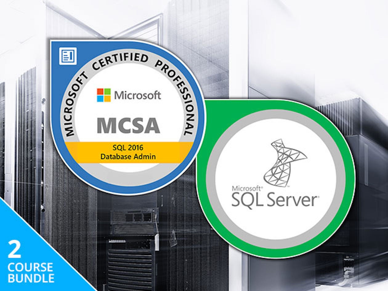Get The Mcsa Sql Server Certification Training Bundle For Just 19