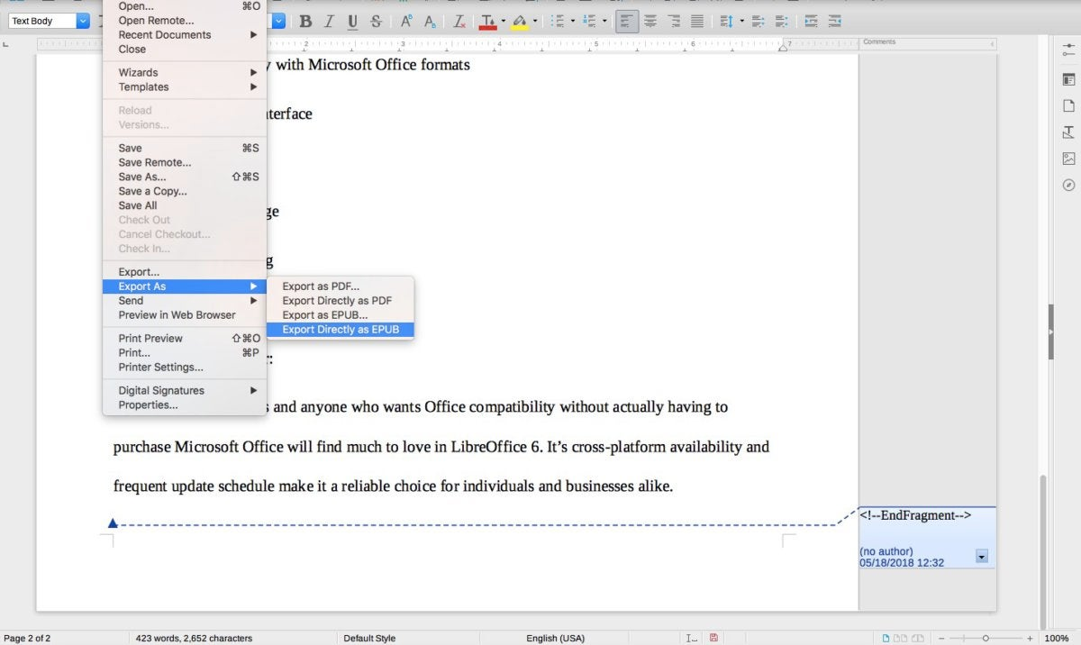 LibreOffice 6 review: The open-source favorite gets an update | PCWorld