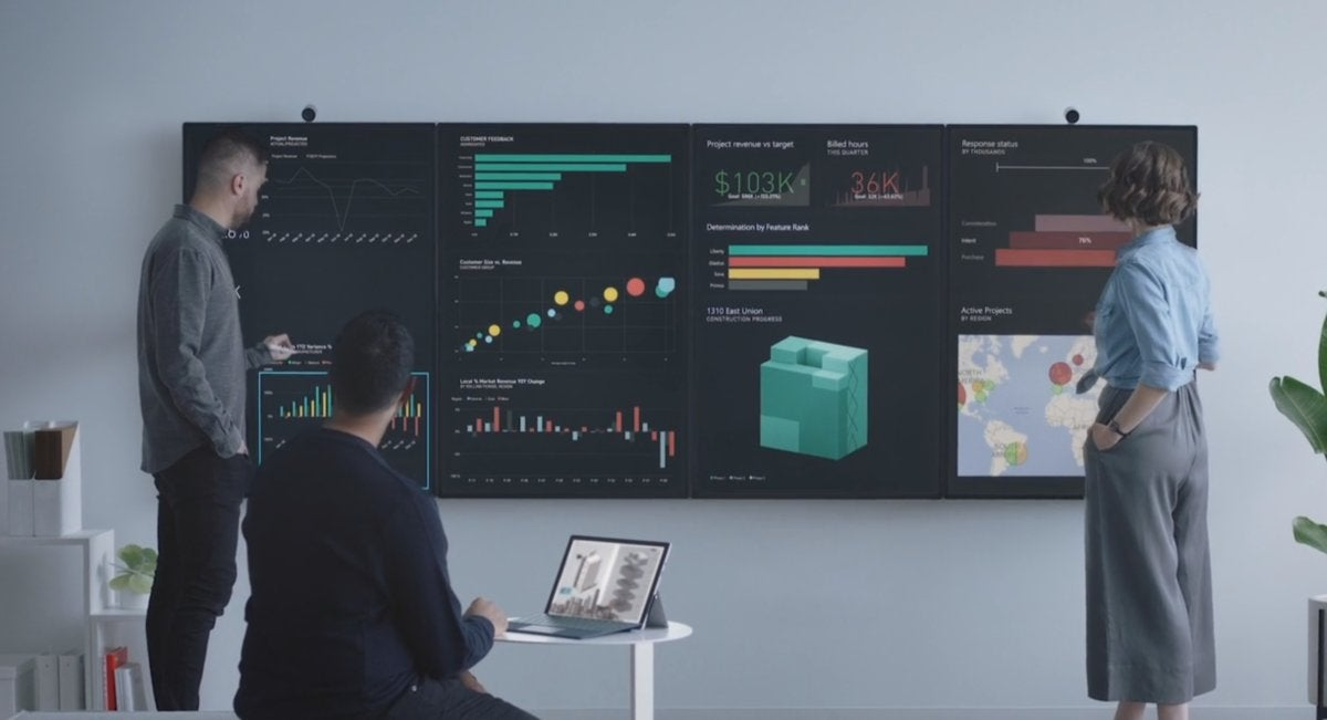 Microsoft surface hub 2 tiled