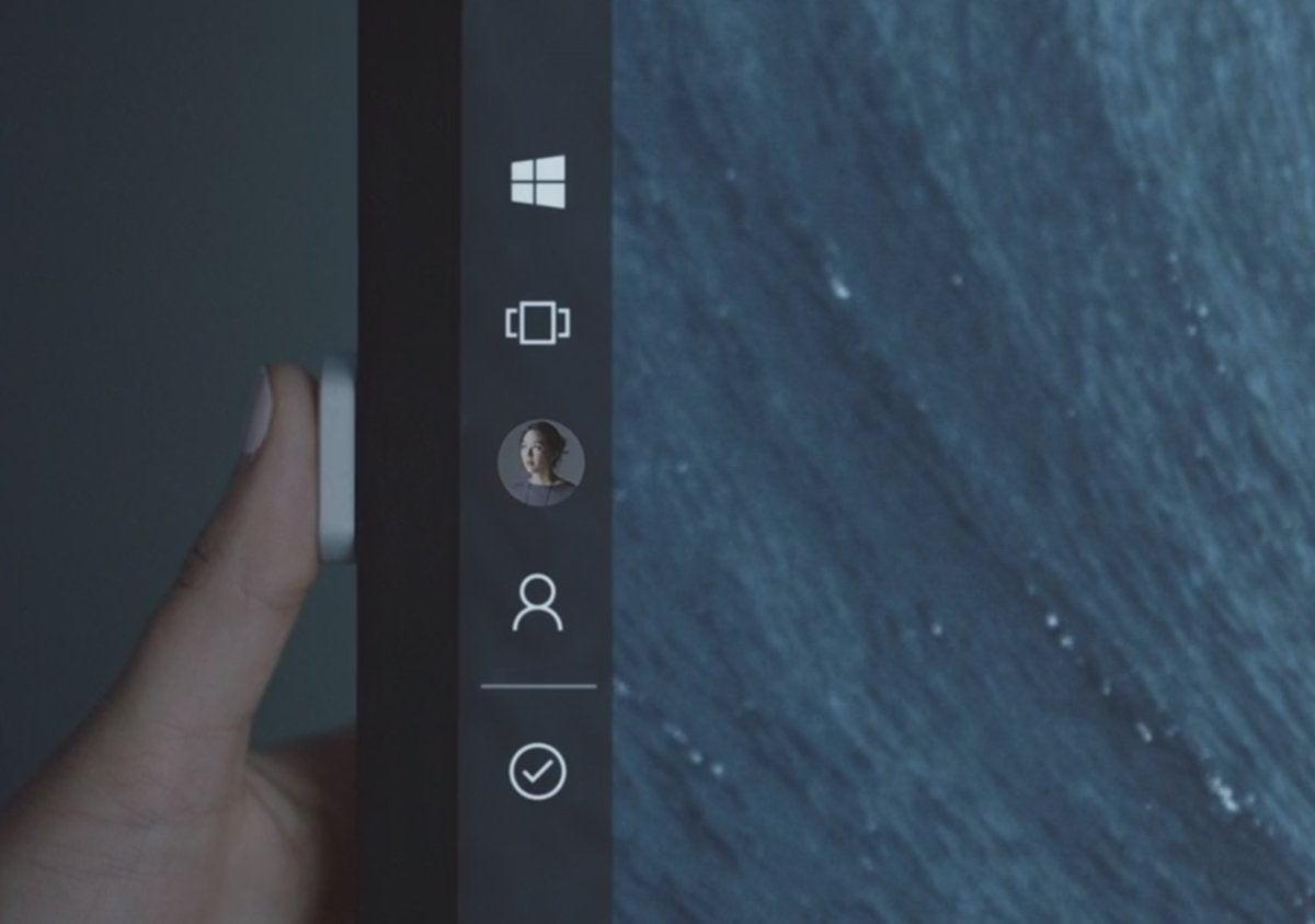 Microsoft surface hub 2 vid button