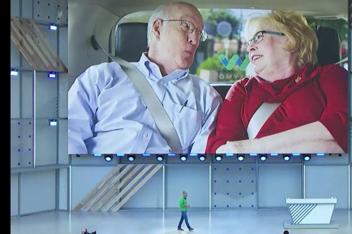 waymo self driving car google io 2018 senior couple jim barbara2