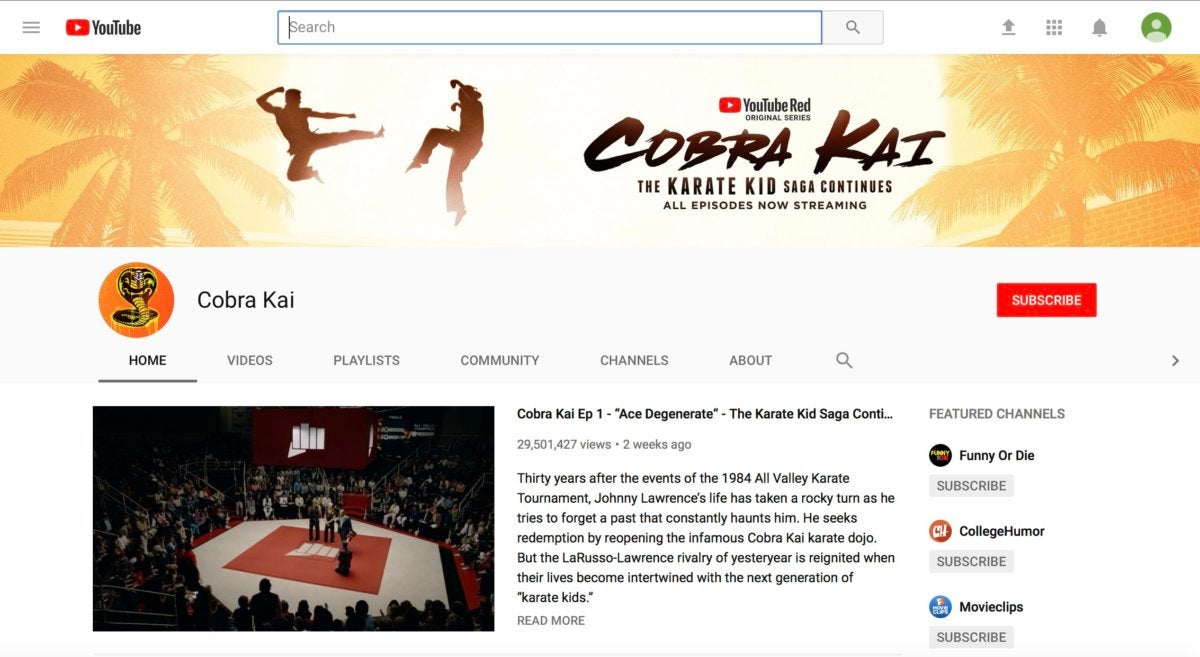 youtube cobra kai